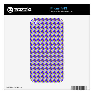 Abstract square and triangle pattern decal for iPhone 4
