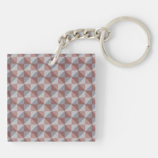 Abstract square and triangle pattern keychain