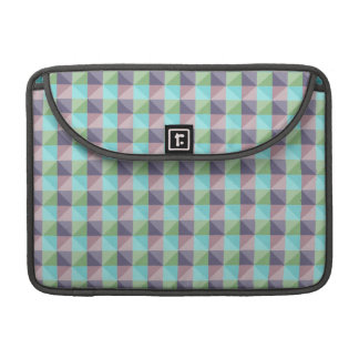 abstract square and triangle pattern MacBook pro sleeve