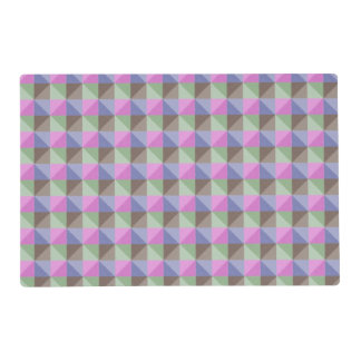 Abstract square and triangle pattern placemat