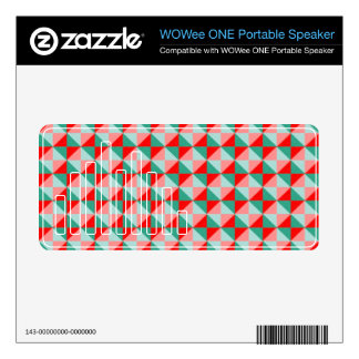 Abstract square and triangle pattern decals for WOWee speakers