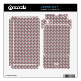 Abstract square and triangle pattern motorola droid x skins