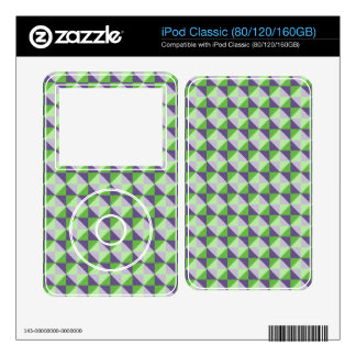 Abstract square and triangle pattern skins for the iPod