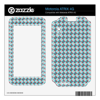 abstract square and triangle pattern motorola ATRIX 4G skins