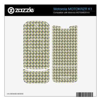 Abstract square and triangle pattern motorola MOTOKRZR k1 skin