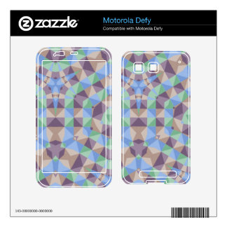 Abstract square and triangle pattern skin for motorola defy
