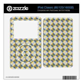 Abstract square and triangle pattern iPod skin