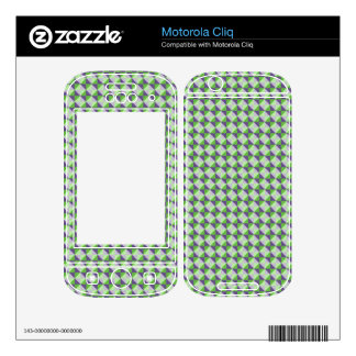 Abstract square and triangle pattern motorola cliq skin