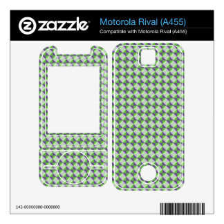 Abstract square and triangle pattern decal for motorola rival