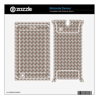 Abstract square and triangle pattern motorola devour skins