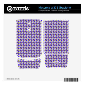 Abstract square and triangle pattern decals for motorola w376