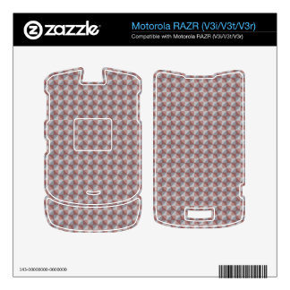 Abstract square and triangle pattern decal for motorola RAZR
