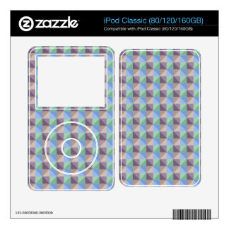 Abstract square and triangle pattern iPod classic skin