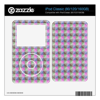 Abstract square and triangle pattern skin for iPod classic