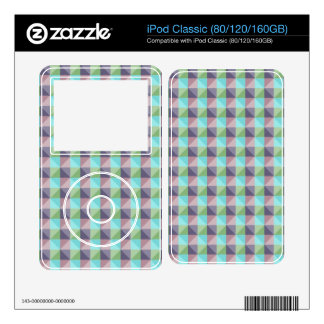 abstract square and triangle pattern skins for iPod