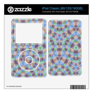 Abstract square and triangle pattern decal for iPod classic