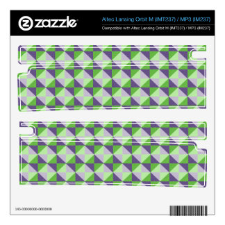 Abstract square and triangle pattern orbit m speaker decals