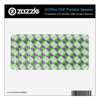 Abstract square and triangle pattern skin for WOWee speaker