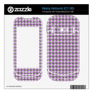 abstract square and triangle pattern skin for nokia astound