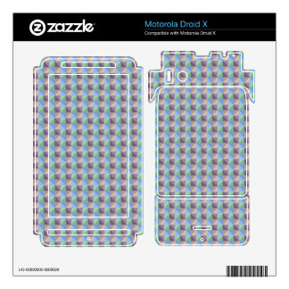 Abstract square and triangle pattern skin for motorola droid x