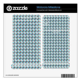 abstract square and triangle pattern motorola milestone decals