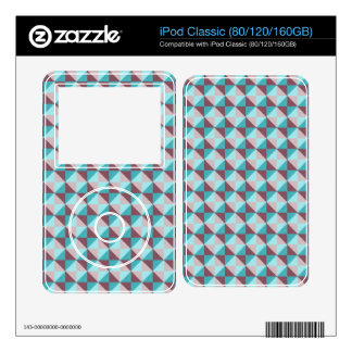 abstract square and triangle pattern iPod classic decals