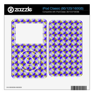 Abstract square and triangle pattern decal for iPod