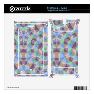 Abstract square and triangle pattern motorola devour decal