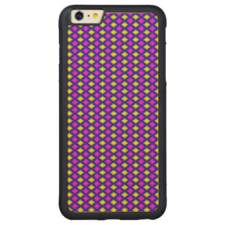 Abstract square colorful pattern carved® maple iPhone 6 plus bumper case