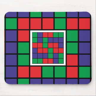Abstract square design mouse pad