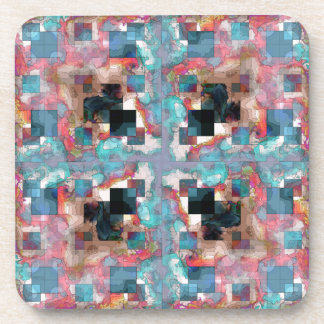 Abstract Square Layers Coaster