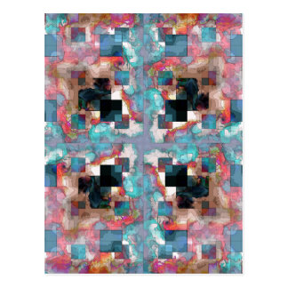 Abstract Square Layers Postcard