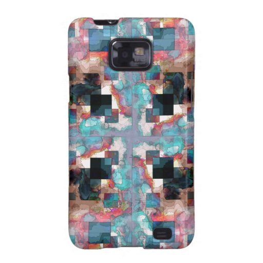 Abstract Square Layers Samsung Galaxy S2 Cases