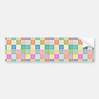 Abstract Square Multicolored Mosaic Bumper Stickers
