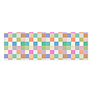 Abstract Square Multicolored Mosaic Business Card Template