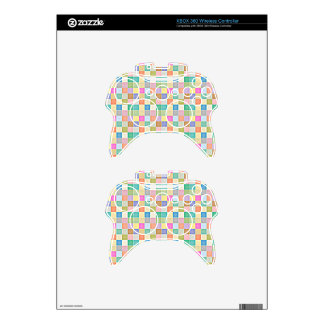 Abstract Square Multicolored Mosaic Xbox 360 Controller Decal
