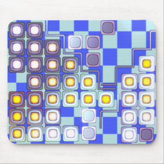 abstract square pattern design mouse pad
