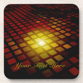 Abstract Square Pattern Drink Coaster