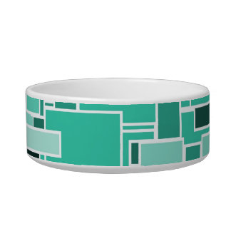 Abstract Square Pet Bowls