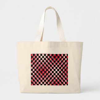 Abstract Square red black and white Bag