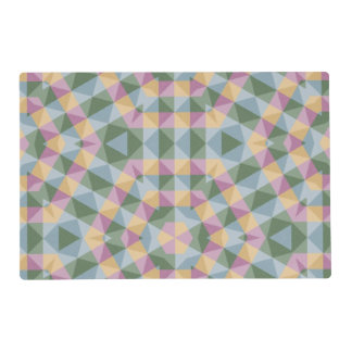 abstract square triangle hexagon pattern placemat