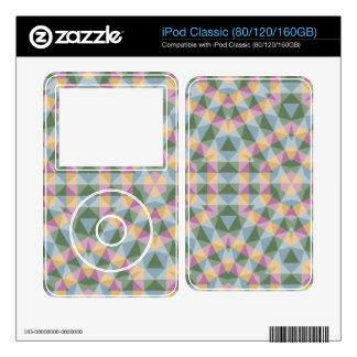 abstract square triangle hexagon pattern iPod decals