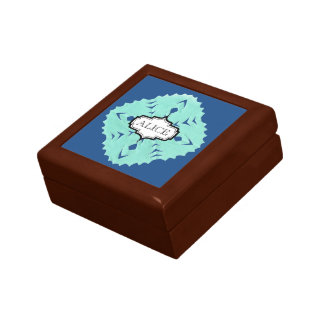 ABSTRACT SQUARE WYCINANKI JEWELRY BOX