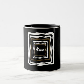 Abstract Squared Two-Tone Coffee Mug