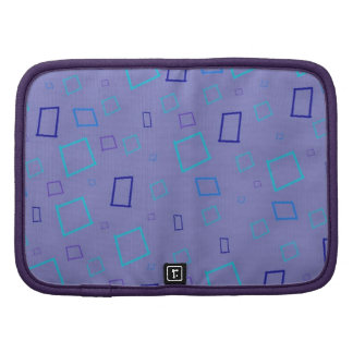 Abstract Squares Blue Lavender Green Planner