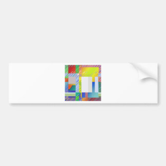 Abstract Squares Bumper Sticker