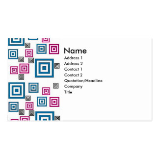 Abstract squares business card