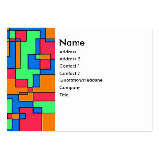 Abstract squares business cards