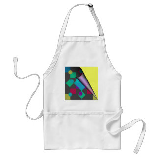 Abstract Squares & Dots Adult Apron