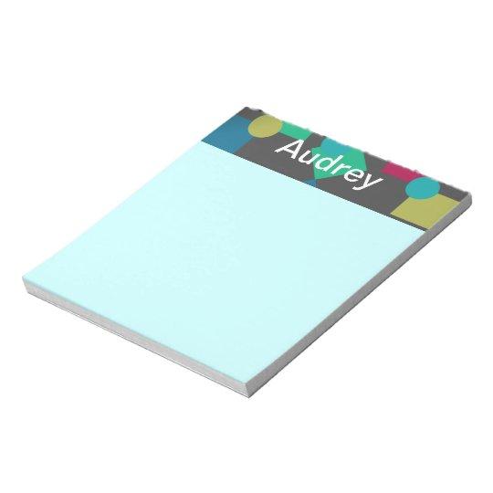 Abstract Squares & Dots Notepad